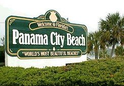 Welcome to Panama City Beach, Florida.